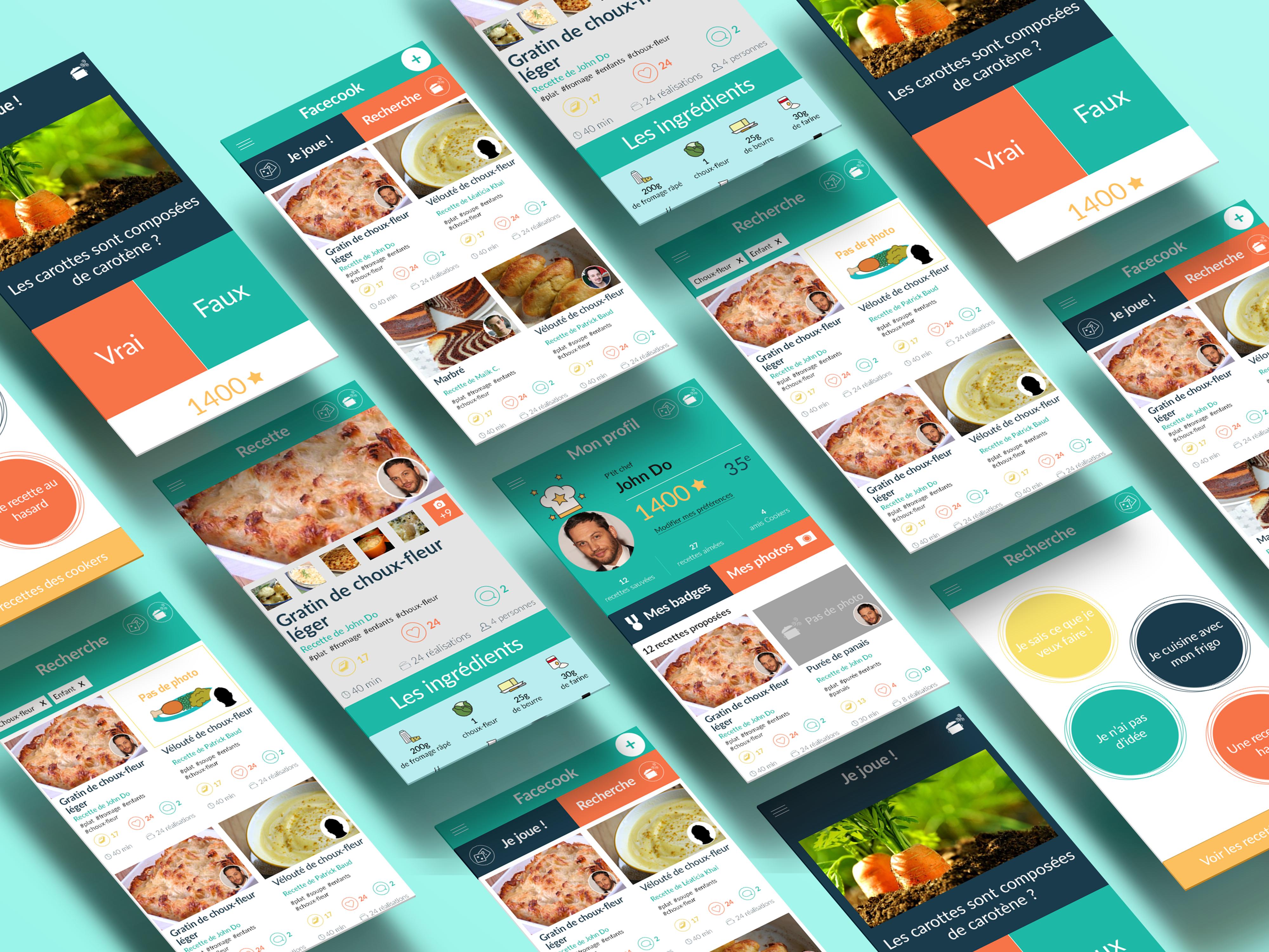 FaceCook, application mobile