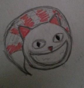 Esquisse du chat du Cheshire