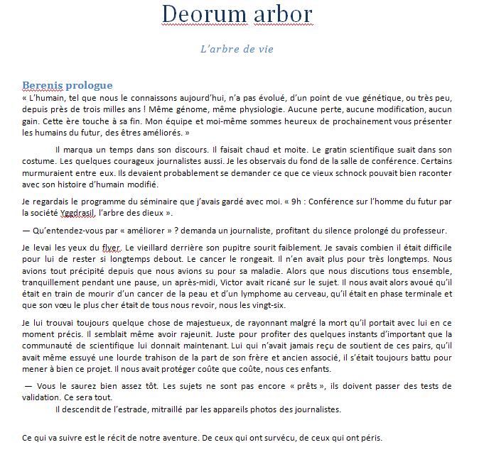 Deorum Arbor - page 1