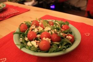 salade mache tomate fromageChevre