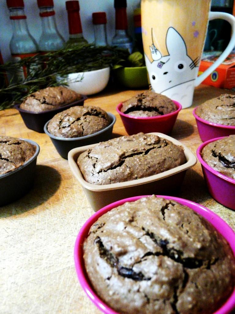 Muffin veggan choco-coco