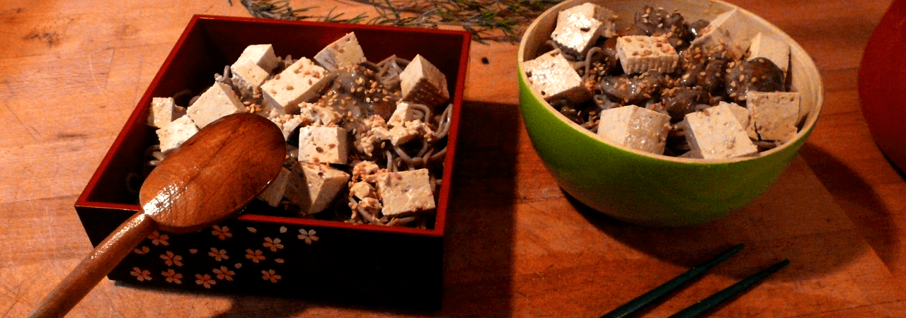 Soba aux champignons